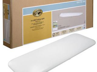 Hampton Bay 4  x 1 5  Bright White Rectangular lED Flushmount light Fixture  New