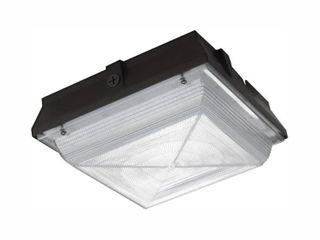 Commercial Electric 350 Watt Equivalent Integrated lED Outdoor Security light  5300 lumens  Canopy and Area light