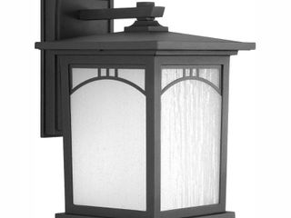 Progress lighting Residence Outdoor 8 Inch Textured Black lED Wall lantern