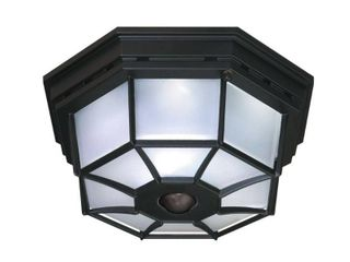 Heath Zenith HZ 4300 BK B 360 Degree Motion Activated Octagonal Ceiling light  Black