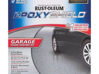 EPOXYSHIElD 1 Car Garage Floor Coating Kit  Gray Gloss
