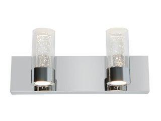 ARTIKA Essence 15 9 in  Chrome lED Vanity light Bar with Bubble Glass