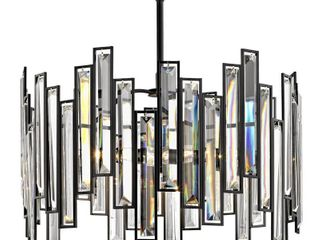 Home Decorators Collection Madison 3 light Aged Bronze Chandelier with Crystal Prisms