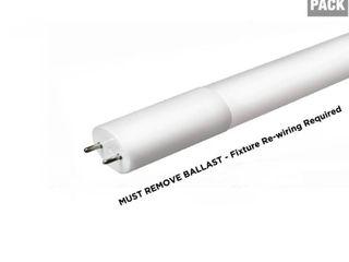 Halco lighting Technologies 4 ft  14 Watt T8 Non Dimmable lED linear light Bulb Type B Bypass Double Ended Cool White 4000K  10 Pack