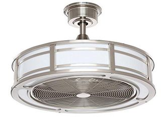 Home Decorators Collection Brette 23 in  lED Indoor Outdoor Brushed Nickel Ceiling Fan