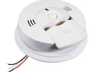 Kidde KN COSM IBA Hardwire Combination Smoke Carbon Monoxide Alarm with Battery Backup and Voice Warning  Interconnectable
