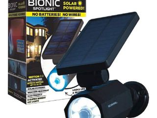Bell Howell Bionic Spotlight Solar Spot light with 25 Feet Motion Sensor  Sun Panels  Waterproof Frost Resistant Patio  Yard and Outdoor lighting  As Seen on TV