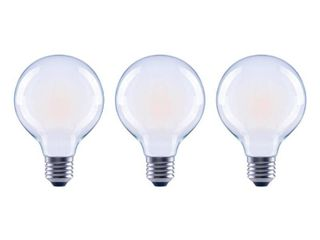 EcoSmart 40 Watt Equivalent G25 Globe Dimmable ENERGY STAR Frosted Glass Filament Vintage lED light Bulb Daylight  3 Pack