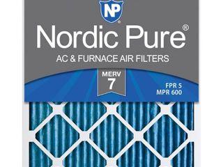 Nordic Pure 16x25x1M7 6 MERV 7 Pleated AC Furnace Air Filter  16x25x1  Box of 6
