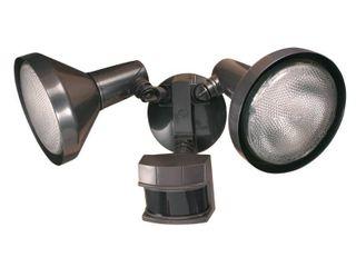 Heathco HZ 5318 BZ 120 Watt Bronze DualBriteAr 2 level Motion Flood light