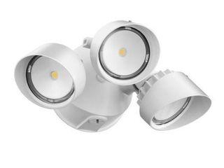 lithonia lighting OlF 3RH 40K 120 WH M4 3 Head Outdoor lED Round Flood light  White