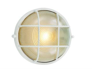 Belair lighting Round Outdoor Stairwell light  White
