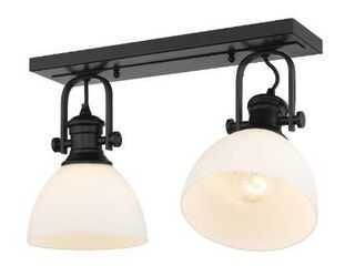 Golden lighting   3118 2SF   Hines 2 light Semi Flush
