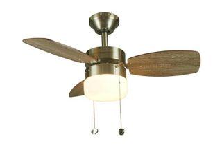 Triplicity 30 in  Indoor Brushed Nickel Ceiling Fan with light