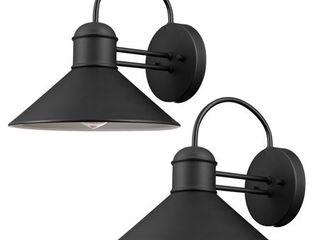 Globe Electric Sebastien 1 light Black Outdoor Wall Sconce  2 Pack  44165
