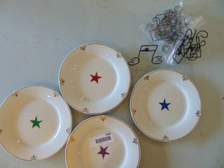 4 Star Plates with Wall Hangars