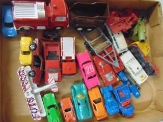 toy cars  metal and plastic