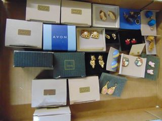 Selection of vintage avon earrings