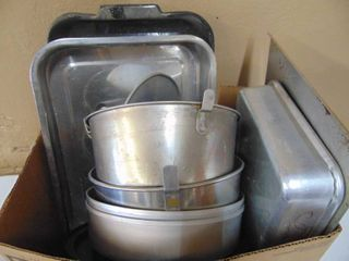 Miscellaneous baking ware  angel food cake pans  baking sheets  and more