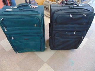 lot of 2 luggage pieces