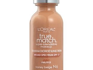 l Oreal Paris True Match Super Blendable Foundation Makeup  Honey Beige  1 fl  oz