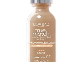 l Oreal Paris True Match Super Blendable Foundation Makeup  Classic Tan  1 fl  oz