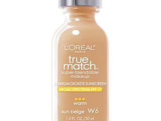l Oreal Paris True Match Super Blendable Foundation Makeup  Sun Beige  1 fl  oz