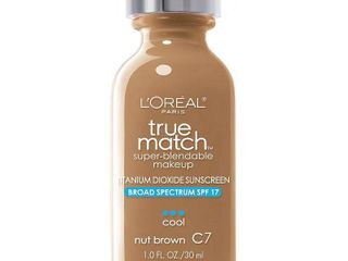 l Oreal Paris True Match Super Blendable Foundation Makeup  Nut Brown  1 fl  oz