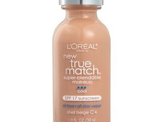l Oreal Paris True Match Super Blendable Foundation Makeup  Shell Beige  1 fl  oz