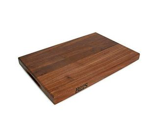 John Boos Block WAl R01 Walnut Wood Edge Grain Reversible Cutting Board  18 Inches x 12 Inches x 1 5 Inches