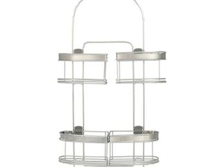 Zenna Home Expandable Over the Shower Caddy  Stainless Steel