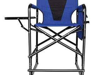 Tall Director s Chair Folding Portable Camping Chair  24inch Seat Height