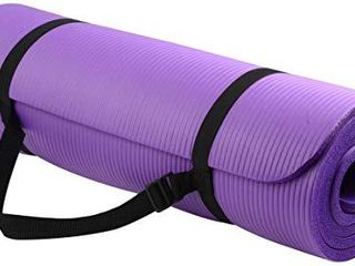 BalanceFrom BFGY AP6PP Go Yoga All Purpose Anti Tear Exercise Yoga Mat with Carrying Strap  Purple  One Size