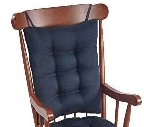 The Gripper Non Slip Omega Jumbo Rocking Chair Back Cushion  Back Measures  17x21x3 inches  Indigo