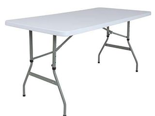 Flash Furniture 4 93 Foot Height Adjustable Granite White Plastic Folding Table