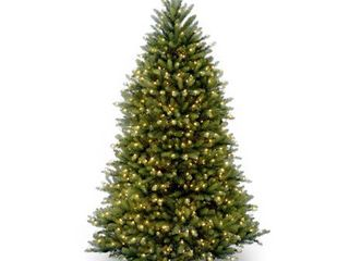 National Tree Pre lit 6 1 2  Dunhill Fir Hinged Artificial Christmas Tree with 650 Clear lights