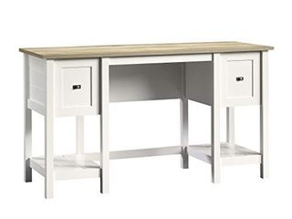 Sauder Cottage Road Desk  Soft White finish