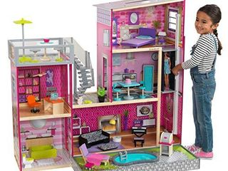 KidKraft Uptown Dollhouse with Furniture  49 25  x 25 25  x 46 25