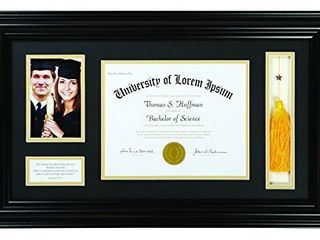 Creative Brands Heartfelt   Inspirational Keepsake Diploma and Photo Frame  15 x 25 Inch  Jeremiah 29 11