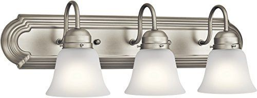 Kichler 5337NIS Vanity  3 light 300 Total Watts  Brushed Nickel