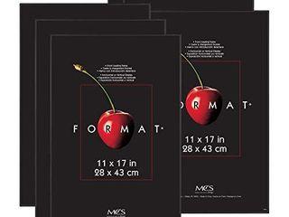 MCS 11x17 Inch Format Frame 6 Pack  Black  65637