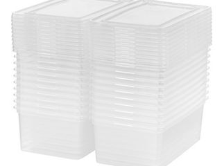 IRIS USA CNl 5 Storage Box  5 Quart  Clear  20 Pack  SOME ARE BROKEN