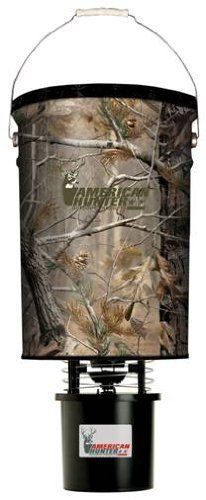 American Hunter 50lb hanging feeder w  AP camo