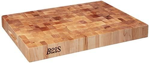 John Boos Maple Classic Reversible Wood End Grain Chopping Block  20 x 15  x 2 25