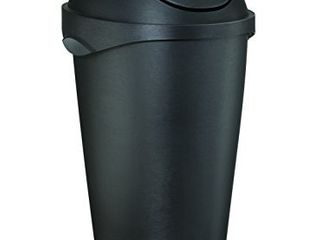 Umbra  Black Swinger 12 Gallon Swing Top Waste Can  11 20