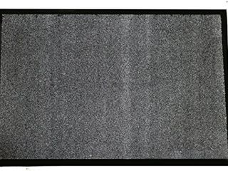 Durable Corporation 654S34CH Wipe N Walk Vinyl Backed Indoor Carpet Entrance Mat  3  x 4  Charcoal