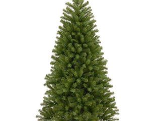 7 5ft National Christmas Tree Company North Valley Spruce Hinged Full Artificial Christmas Tree