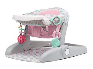 Summer learn to Sit Stages 3 Position Floor Seat  Sweet and Sour Pink a Sit Baby Up to See The World a Baby Activity Seat is Adjustable for Ages 4 12 Months a Includes Toys and Tray