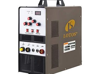 lOTOS   1H 4HPT NF6E lotos TIG200ACDC 200A AC DC Aluminum Tig Welder with DC Stick Arc Welder  Square Wave Inverter with Foot Pedal and Argon Regulator 110 220V Dual Voltage Brown