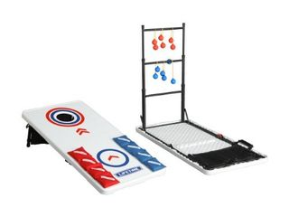 lifetime Heavy Duty Outdoor Cornhole  ladderball Game and Table Combo Set